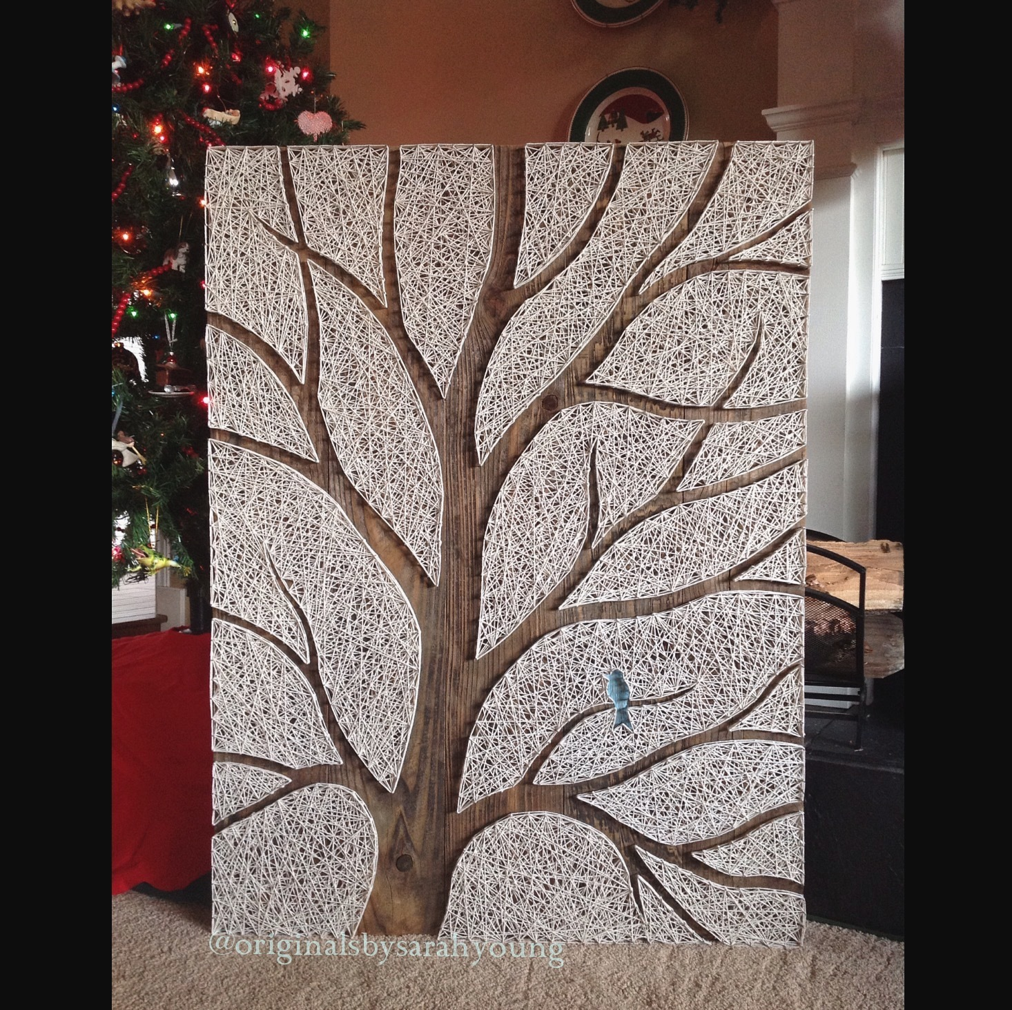 """Beast"" Negative Space Tree String Art (vertical)"
