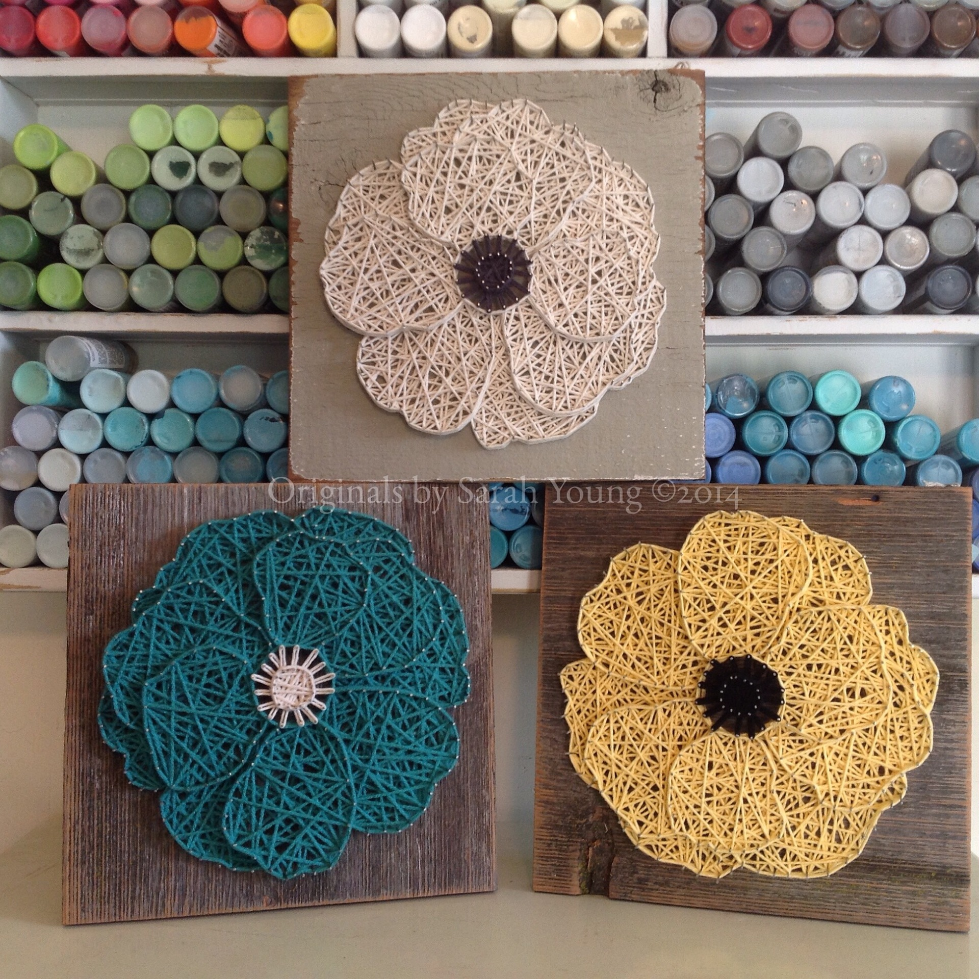 String Art Layered Flower