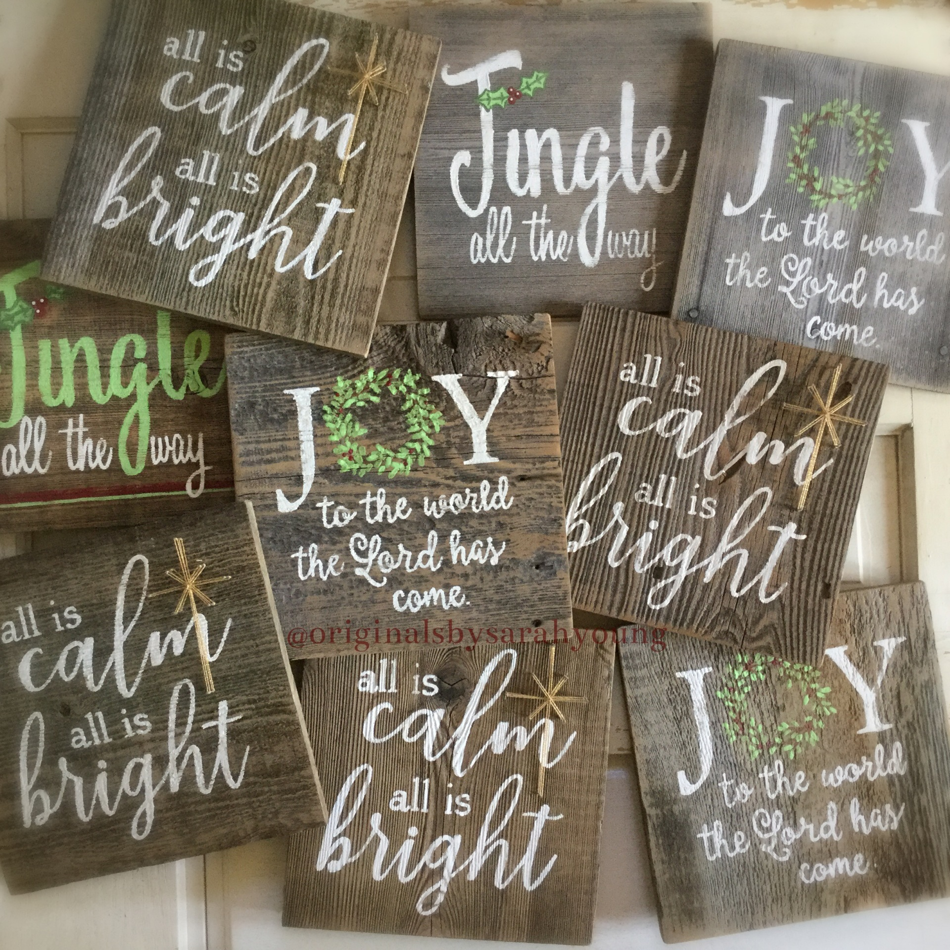 Hand-Painted Christmas Quotes